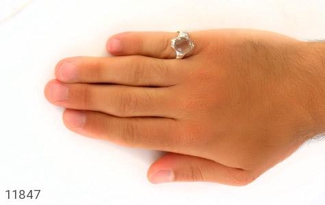 انگشتر دُر نجف رکاب دست ساز - تصویر 8