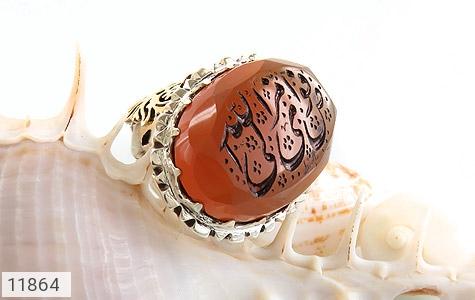 انگشتر عقیق یمن حکاکی افوض امری الی الله استاد باسط رکاب دست ساز - عکس 5