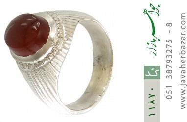 انگشتر عقیق یمن هنر دست استاد یکتا - کد 11870