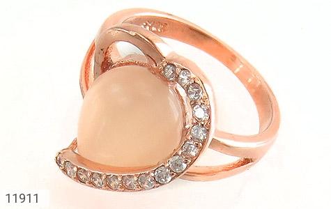 انگشتر چشم گربه طرح قلب زنانه - عکس 1