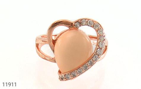 انگشتر چشم گربه طرح قلب زنانه - عکس 3