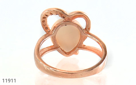انگشتر چشم گربه طرح قلب زنانه - تصویر 4