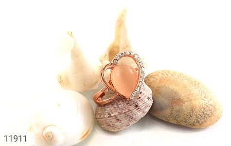 انگشتر چشم گربه طرح قلب زنانه - عکس 5