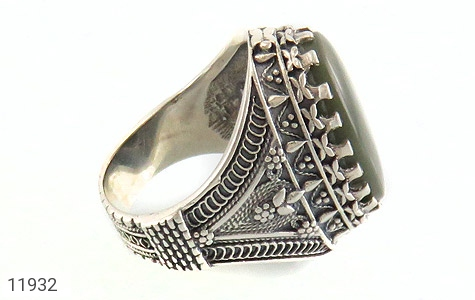 انگشتر یشم مرغوب و درشت مردانه - عکس 3