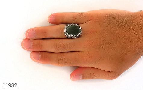 انگشتر یشم مرغوب و درشت مردانه - عکس 7