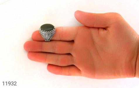 انگشتر یشم مرغوب و درشت مردانه - تصویر 8
