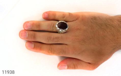 انگشتر زمرد و عقیق یمن رکاب دست ساز - عکس 7