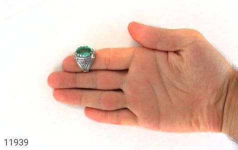انگشتر نقره نگین تراش درخشان مردانه - تصویر 8