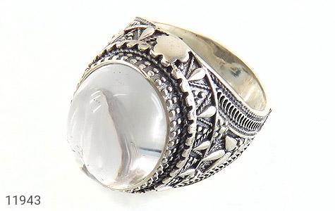 انگشتر دُر نجف درشت جذاب مردانه - عکس 1