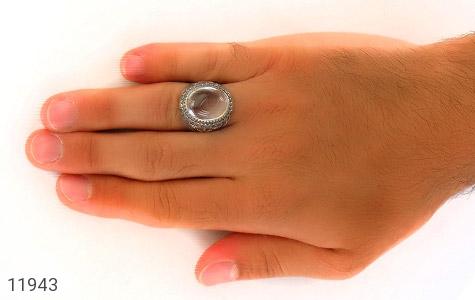 انگشتر دُر نجف درشت جذاب مردانه - تصویر 8