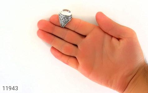 انگشتر دُر نجف درشت جذاب مردانه - عکس 9