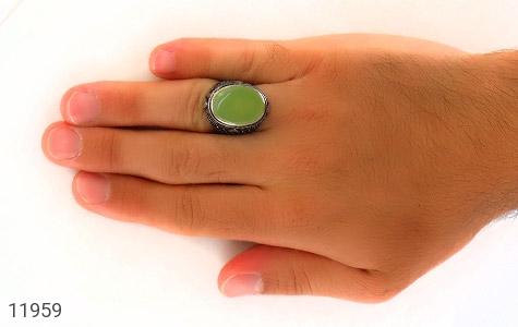 انگشتر عقیق برزیلی درشت خوش رنگ مردانه - عکس 7
