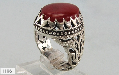 انگشتر عقیق رکاب دست ساز - عکس 3