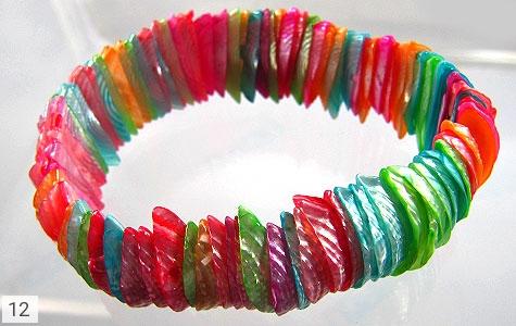 دستبند صدف کار دست زنانه - تصویر 4
