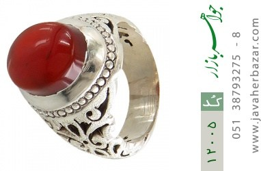 انگشتر عقیق قرمز یمن فاخر مردانه