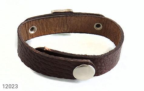دستبند نقره و چرم و فیروزه نیشابوری دست ساز - تصویر 4