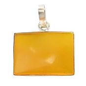 مدال عقیق زرد درشت با حکاکی شرف الشمس