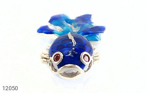 مدال نقره میناکاری طرح ماهی زنانه - تصویر 2