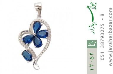 مدال نقره میناکاری طرح قلب زنانه - کد 12052