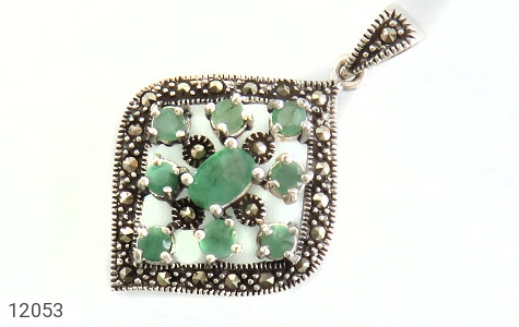 مدال زمرد و مارکازیت طرح خاتون زنانه - عکس 1