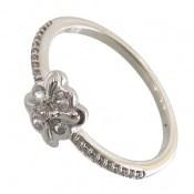 انگشتر نقره طرح ملوس جواهرنشان زنانه
