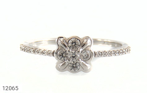 انگشتر نقره طرح ملوس جواهرنشان زنانه - تصویر 2