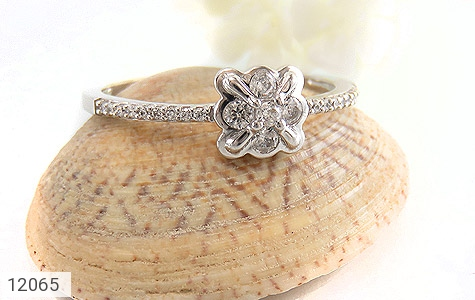 انگشتر نقره طرح ملوس جواهرنشان زنانه - عکس 5