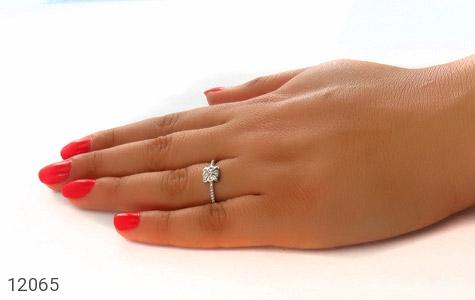 انگشتر نقره طرح ملوس جواهرنشان زنانه - عکس 7