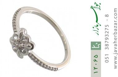 انگشتر نقره طرح ملوس جواهرنشان زنانه - کد 12065