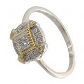 انگشتر نقره جواهرنشان طرح غزل زنانه