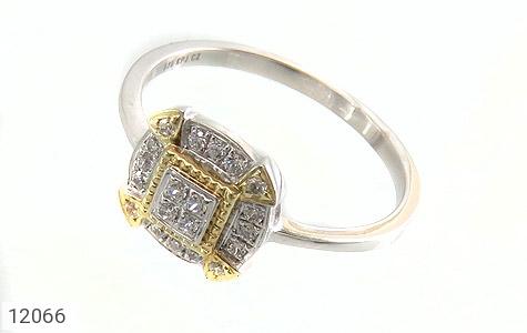 انگشتر نقره جواهرنشان طرح غزل زنانه - عکس 1