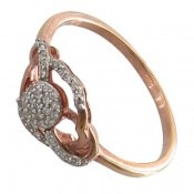 انگشتر نقره جواهرنشان طرح روشا زنانه