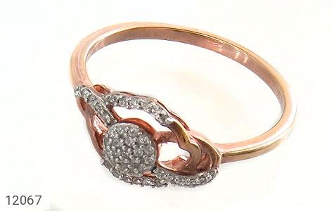 انگشتر نقره جواهرنشان طرح روشا زنانه - عکس 1