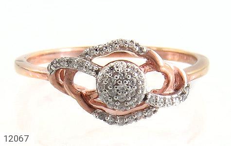 انگشتر نقره جواهرنشان طرح روشا زنانه - تصویر 2