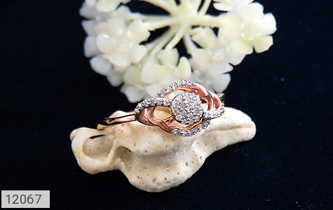 انگشتر نقره جواهرنشان طرح روشا زنانه - عکس 5