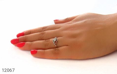 انگشتر نقره جواهرنشان طرح روشا زنانه - عکس 7