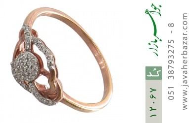 انگشتر نقره جواهرنشان طرح روشا زنانه - کد 12067