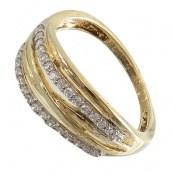 انگشتر نقره جواهرنشان طرح سه حلقه زنانه