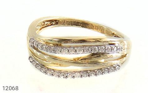 انگشتر نقره جواهرنشان طرح سه حلقه زنانه - تصویر 2