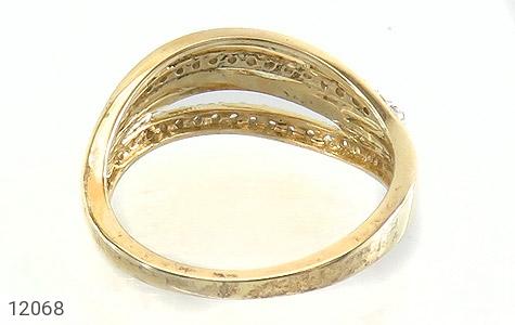 انگشتر نقره جواهرنشان طرح سه حلقه زنانه - تصویر 4