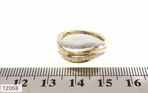 انگشتر نقره جواهرنشان طرح سه حلقه زنانه - تصویر 6