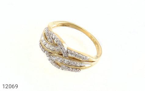 انگشتر نقره رینگ جواهرنشان زنانه - عکس 1