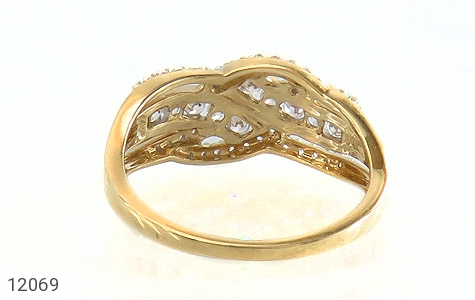 انگشتر نقره رینگ جواهرنشان زنانه - تصویر 4
