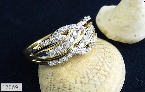 انگشتر نقره رینگ جواهرنشان زنانه - عکس 5