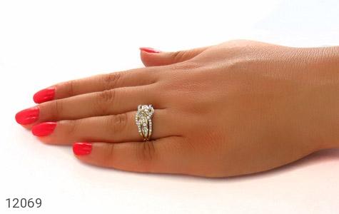 انگشتر نقره رینگ جواهرنشان زنانه - عکس 7