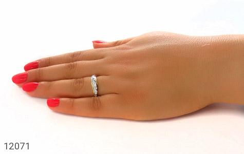 انگشتر نقره جواهرنشان رینگی زنانه - عکس 7