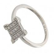 انگشتر نقره جواهرنشان طرح گیتی زنانه