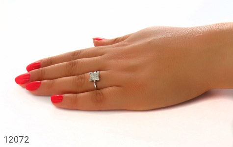 انگشتر نقره جواهرنشان طرح گیتی زنانه - عکس 7