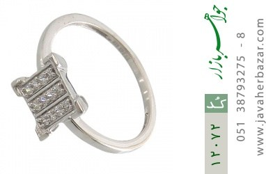 انگشتر نقره جواهرنشان طرح گیتی زنانه - کد 12072