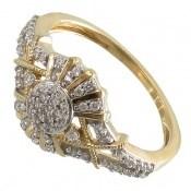 انگشتر نقره طرح دلبر جواهرنشان زنانه